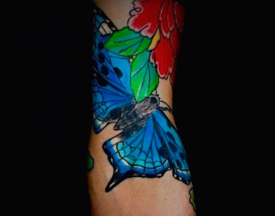 Calypso-Tattoo - Gallery -  blue butterfly