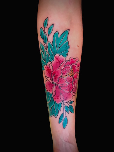 Calypso-Tattoo - Gallery - flower on forearm